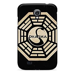 Shockproof Cell-phone Hard Covers For Samsung Galaxy S4 (PlM16603KQVy) Allow Personal Design High-definition The Dharma Initiative Skin