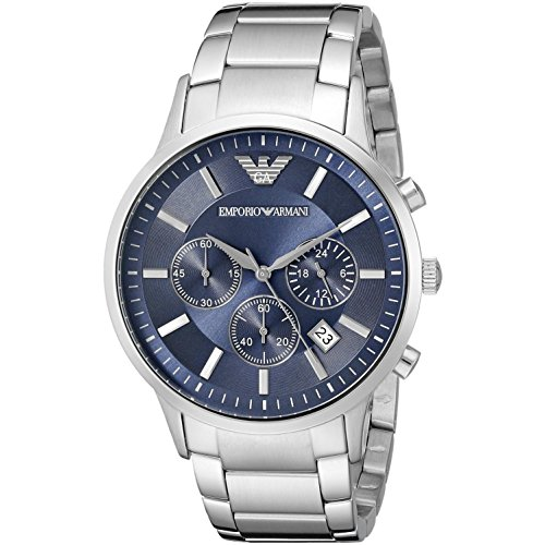 Emporio Armani Men's AR2448 Dress Stainless/Blue Dial Watch ()
