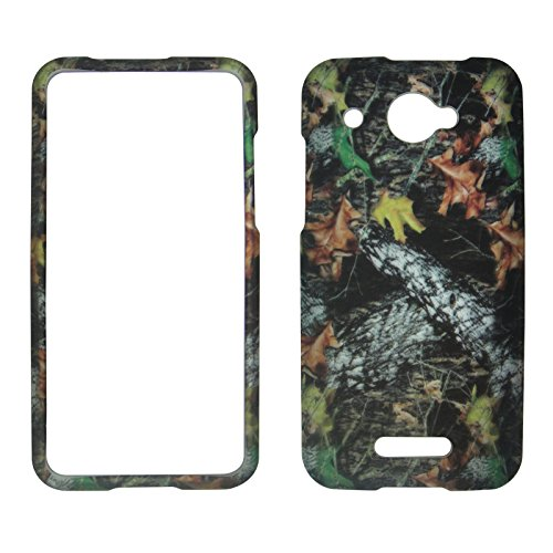 (2D Camo Stem Mapple HTC Droid DNA 4G LTE X920E Verizon Case Cover Snap-on Hard Shell Protector Cover Phone Hard Case Case Cover Rubberized Frosted Matte Surface Hard Shells)