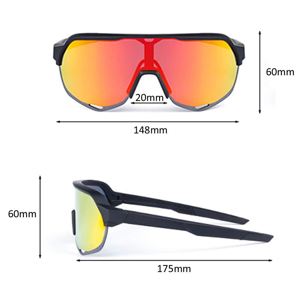 Gran Viento del Espejo y protecci/ón Ultravioleta Lentes Intercambiables y Puede ser Equipado de los vidrios de la miop/ía Adulto LYY Vidrios polarizados del Montar a Caballo