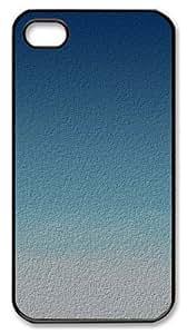 iphone 4 case cassette cases Simple blue texture PC Black for Apple iPhone 4/4S