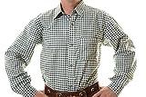 Lederhosen Shirt, Trachtenshirt, Oktoberfest Shirt, German Costume Shirt green/white checkered, 3XL