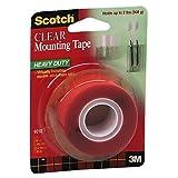 Scotch Heavy Duty Clear Mounting Tape, 25.4mm x 1.52m, 1 Roll, (4010C)