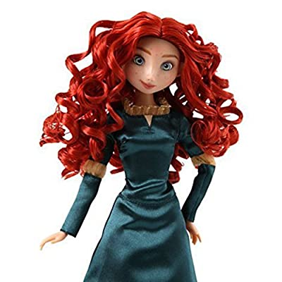 Disney Exclusive Brave Classic Merida 12 Inch Doll with Deluxe Satin Dress: Toys & Games