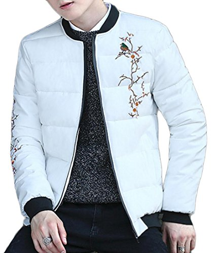 Jacket Generic Quilted Down Casual Warm Outdoors White Winter Mens Coat gxqgYp6