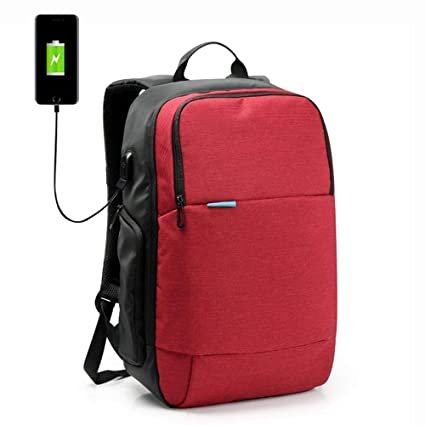 AOLVO - Mochila para Ordenador portátil XL con Puerto USB de Carga y Auriculares, Ideal