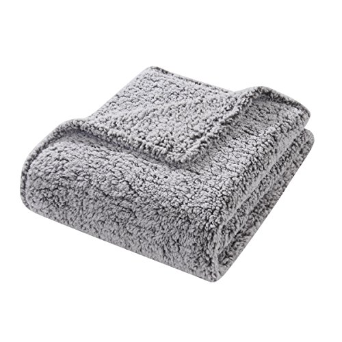 HYSEAS Sherpa Bed Throw, Extra Soft and Fuzzy Plush Brush Fabric, 50