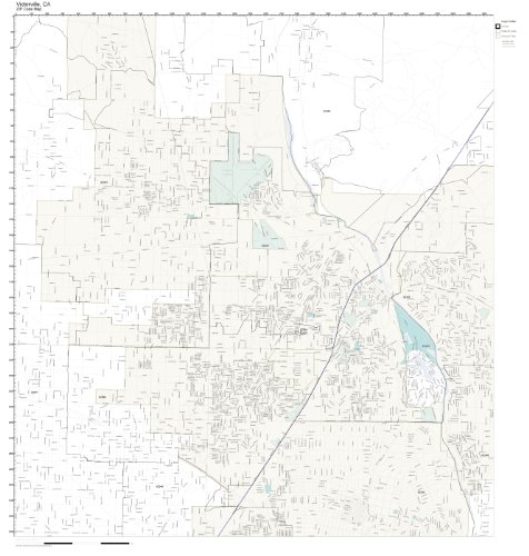 ZIP Code Wall Map of Victorville, CA ZIP Code Map Laminated (City Of Victorville)