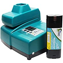 Makita 7000 Battery + Universal Charger for Makita Replacement - For Makita 7.2V Power Tool Batteries and Chargers (2100mAh, NIMH)