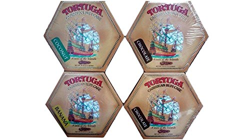 Tortuga Rum Cake, Pick your flavors, 4-Ounce Cake 4 Pack Mix. From Original Golden , Coconut, Banana, Pineapple, Key Lime, Chocolate,.