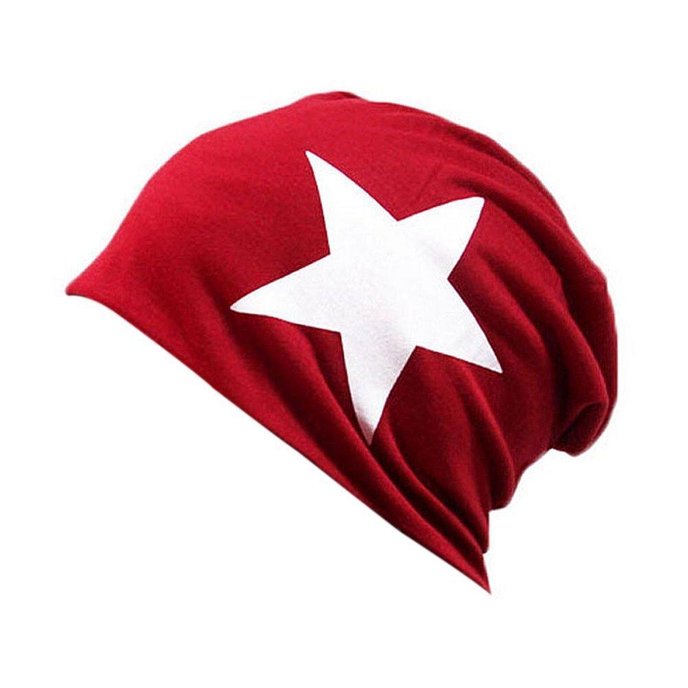 TININNA Bonnet Unisexe Coréen Beanie étoile Hip-Hop Printemps Hat Chapeau Chaud pour Hommes Femmes