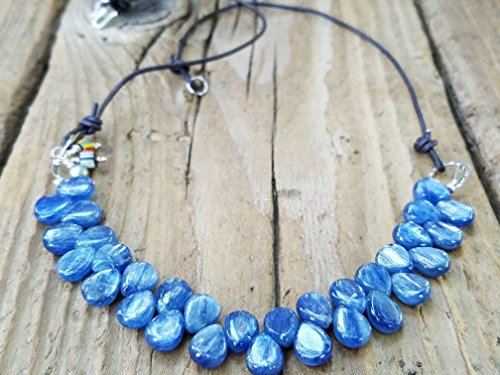 Kyanite and Hill Tribe Silver Necklace