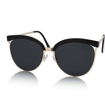 Gafas de sol @Gafas Gafas de sol reflexivas de Medio Marco ...