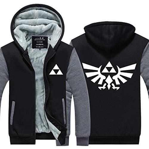 PONGONE The Legend of Zelda Cosplay Hoodie Luminous Thick Jacket Unisex Zipper Coat -
