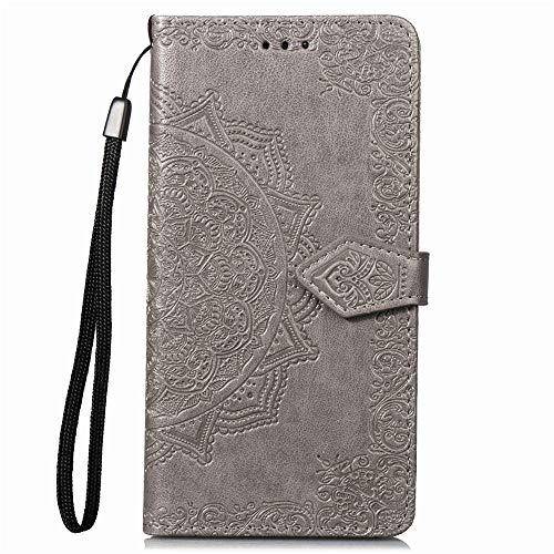 LG K8S (U.S. Cellular) Case, Nicelin PU Leather Wallet Type Magnet Closed Flip Stand Case [Model No. A441-000001] for LG K8S (U.S. Cellular) / LMX220QM (Gray)