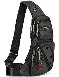 Sling Bag Chest Shoulder Backpack Fanny Pack Crossbody Bags for Men(Black)