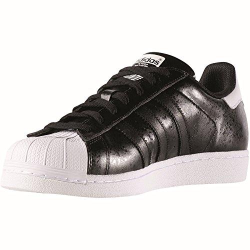 adidas Herren Superstar Sneaker, Blau, 38 EU Schwarz