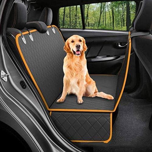 XISABCS 犬のカーシートカバー、コンバーチブル犬ハンモックスクラッチプルーフペットカーシートカバー、バックシートプロテクターのための耐久性のある滑り止め犬のシートカバー