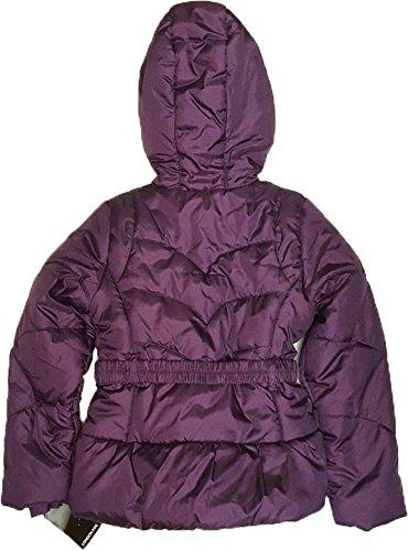 London Fog Kids Coat Girls Belted Jacket Grape Fit 1416