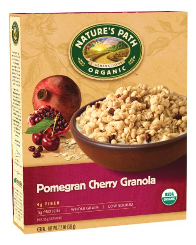 UPC 058449890133, Nature's Path Organic Pomegran Plus Granola with Cherries, 11.5-Ounce Box (Pack of 6)
