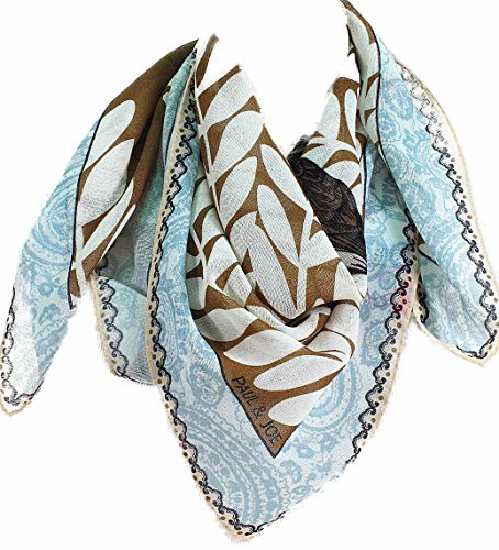Paul & Joe - Foulard laine Warming sparrow marron