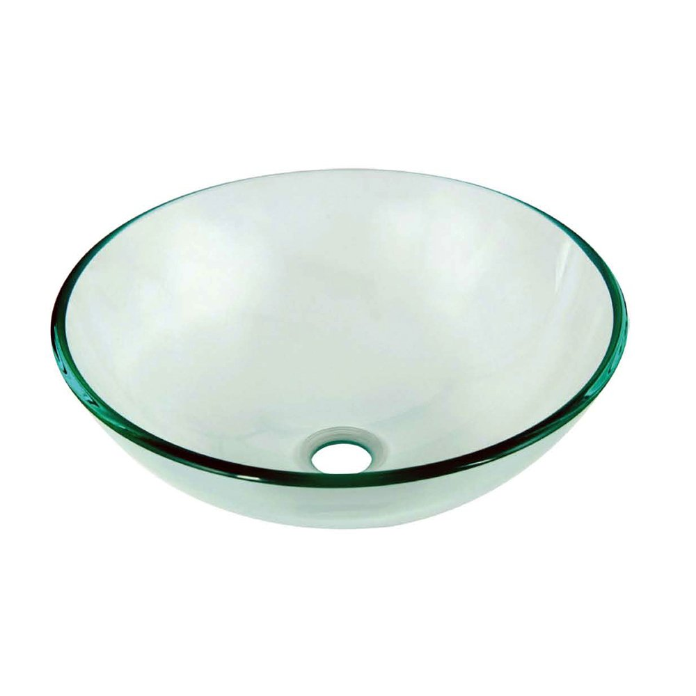 Dawn GVB84007 Tempered Glass Vessel Sink-Round Shape, Naturally Clear by Dawn