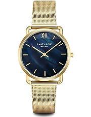 Eastside Damen Uhr analog Japanisches Quarzwerk mit Edelstahl Armband gelbgold 3 ATM 10080047