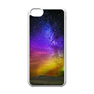 New Fashion AXL370596 Painted Pattern Phone Case For Iphone 5C Cover Case w/ Aurora and Star