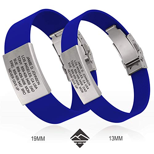 Road ID Bracelet - Official ID Wristband - Silicone Clasp Identification Bracelet and Sport ID for ()