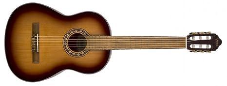 Valencia - Guitarra clásica, diseño antiguo de Sunburst, 4/4 ...