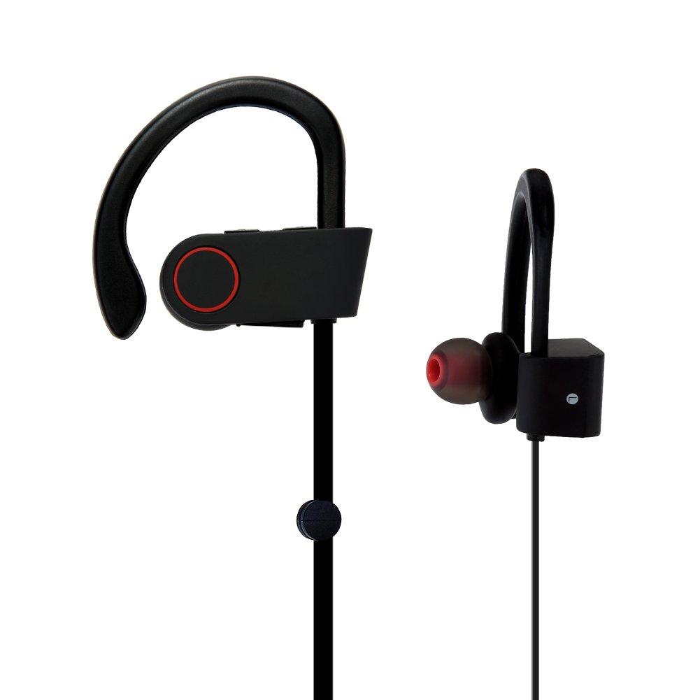 OXoqo Auriculares Bluetooth, OXoqo en la Oreja los Auriculares con Micrófono Deporte Mejores Auriculares Inalámbricos IPX4 Sweatproof la Aptitud del Oído ...