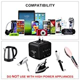 Universal Travel Adapter, HAOZI All-in-one