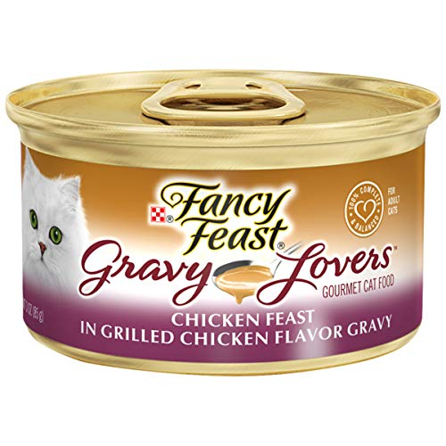 Fancy Feast Wet Cat Food, Gravy Lovers, Chicken Feast, 3-Ounce Can, Pack of 24]()