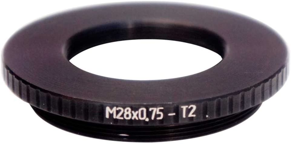 M28x0.75 Female to T2 Male Thread Adapter