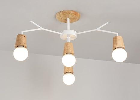 Plafoniere Per Balconi : Momo nordic fashion simple wood light albero forma a forcella