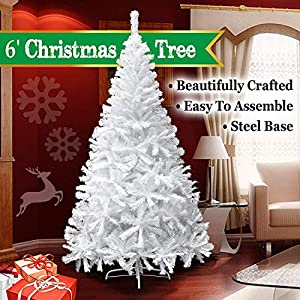 BenefitUSA 6' Classic Pine Christmas Tree Artificial Realistic Natural Branches-Unlit 180CM 750 Tips With Metal Stand 5