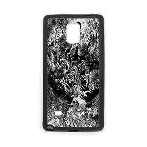 [Berserk Series] Samsung Galaxy Note 4 Cases Tree Face Hand the Moon, Samsung Galaxy Note 4 Case Designer Yearinspace - Black