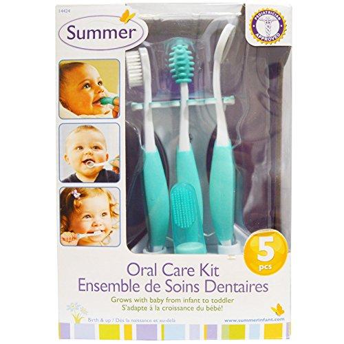 Summer Infant Oral Care Kit, Teal/White