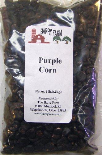 Whole Purple Corn, 1 lb. by Barry Farm (Dried Purple Corn compare prices)