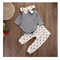 Baby Clothes, Egmy Cute 1Set Newborn Baby Boys Girls Bear Tops Romper Pants 3...