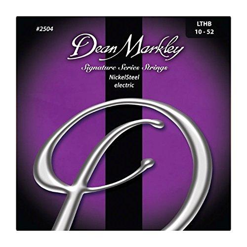 Dean Markley NickelSteel Electric Guitar Strings, 10-52, 2504, Light Top/Heavy (Boomers Heavy Electric Guitar Strings)