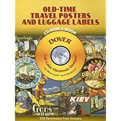 Old-Time Travel Posters and Luggage Labels CD-ROM and Book (Dover Electronic Clip Art)
