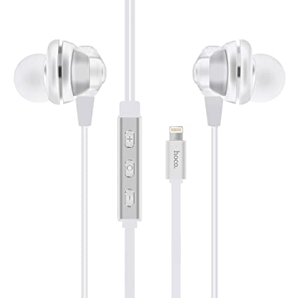 apple earbuds amazon. hoco l1 apple mfi certified pure hifi sound lightning earphone - wired,volume control with earbuds amazon o