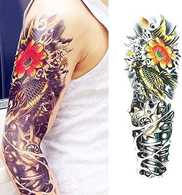 7pcs Tatuaje gran tatuaje mangas del brazo del tatuaje impermeable ...