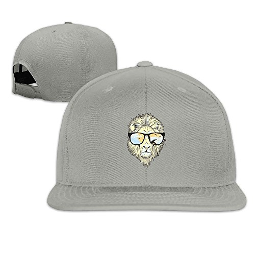 MaNeg Lion With Glasses Unisex Fashion Cool Adjustable Snapback Baseball Cap Hat One Size - Eyewear Chanel