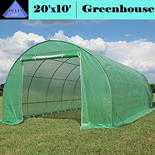 High Peak Clear Canopy - Greenhouse 20'x10' (B2) 94 lbs - Green House Walk in Hot House By DELTA Canopies