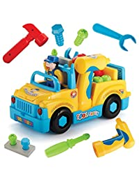 Multifunctional Take Apart Toy Tool Truck With Electric Drill and Power Tools, Lights and Music, Bump and Go Action BOBEBE Online Baby Store From New York to Miami and Los Angeles