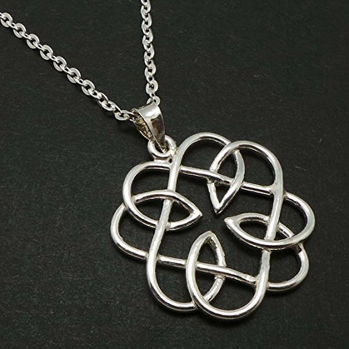 Amazon handmade silver celtic father daughter knot pendant handmade silver celtic father daughter knot pendant necklace mozeypictures Choice Image
