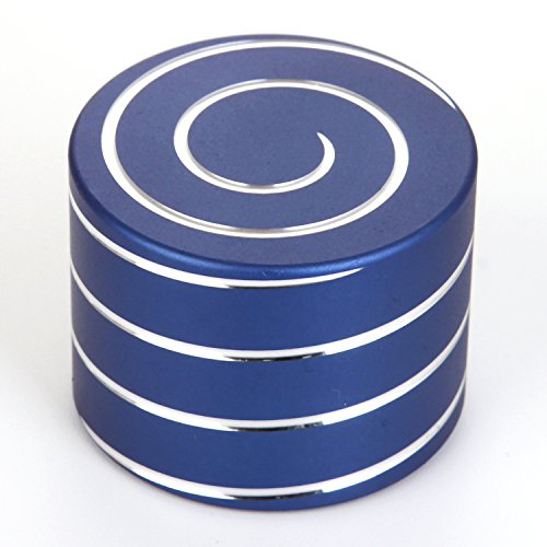 SANFENG Desktop Spinning Top - Aluminium VORTECON Kinetic Spinning Desk Toy - Adult Anxiety Relief Fidget Toys That Creates a Mind-Bending Optical Illusion of Continuously Flowing Helix (Blue, 40mm)