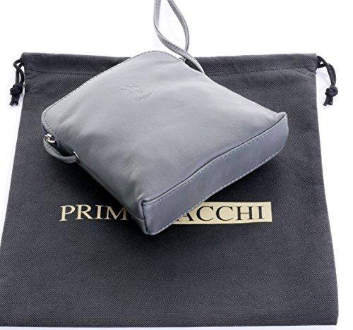 nbsp;Fornita italiana marca protettiva Micro Vera a Scuro il corpo attraversare pelle pratica piccolo Grigio custodia o morbida tracolla nella borsa qxxfEw7n1